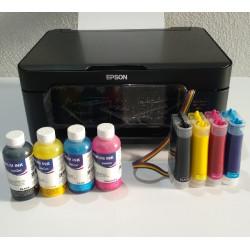 Impresora A4 Epson WF-2810 con CISS lleno e instalado de tinta Pigmentada InkTec, para oficina y hogar