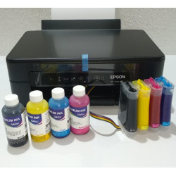Impresora A4 Epson XP-2100 con CISS lleno e instalado de tinta Pigmentada InkTec, para oficina y hogar