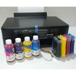 Impresora Epson XP-2100 A4 con CISS instalado y lleno de tinta para sublimación de Inktec