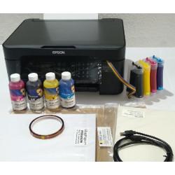 Combo impresora Epson WF-2810 A4 con CISS instalado y lleno de tinta para sublimación, con 240 hojas