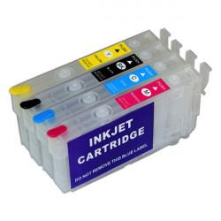 405XL 4 cartuchos rellenables compatibles para Epson WF-7310, WF-7830, WF-7835, WF-7840, WF-4830,...