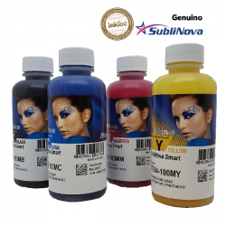 4 botellas de 100 ml de tinta de sublimación SubliNova Smart para impresoras