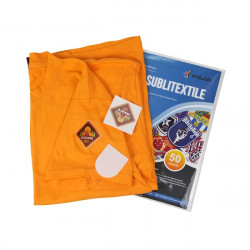 Vinilo textil OBM Sublitextil perlado áspero 10 hojas A3