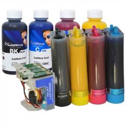 CISS 27XL lleno de tinta Sublimación de InkTec t2711 para Epson WF-7110 WF-7610 WF-3620 wf-7710 wf-7210