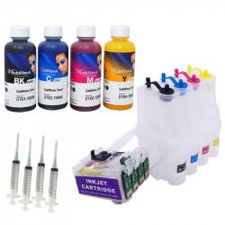 Combo CISS 16XL vacío Epson t1631 y Pack tintas Sublimación InkTec para wf-2010 wf-2510 wf-2630