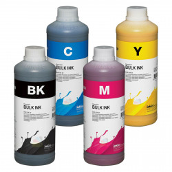 Tintas Dye colorante InkTec para impresoras Epson Pack 4 X 1 Litro cmyk E0010