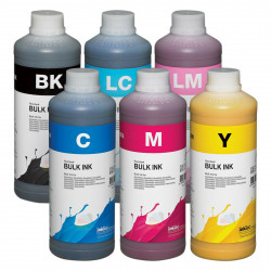 Tintas Dye colorante InkTec para impresoras Epson Pack 6 X 1 L E0010