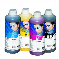 4 botellas de 1 L de tinta de sublimación SubliNova Smart para impresoras